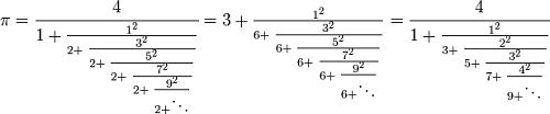 فرمول لرد برونکر
