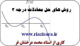 حل معادله درجه 3