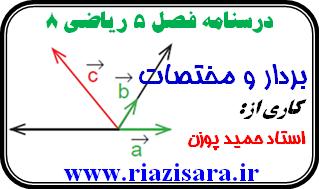 ریاضی 8, بردار و مختصات